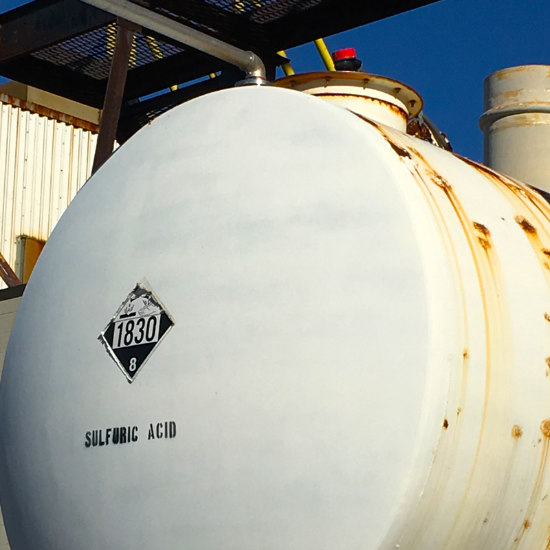 Guided Wave Radar on Sulfuric Acid Tank
